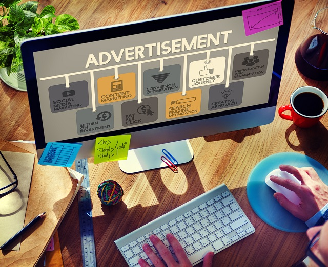 Advertisement Online Marketing Commerce Concept